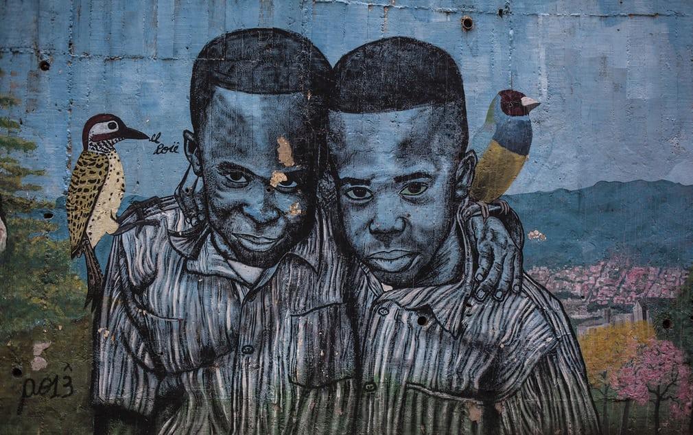 Стрит-арт в колумбийском Медельине