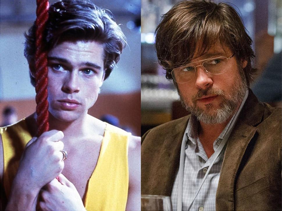 Знаменитости в своих первых и в недавних фильмах