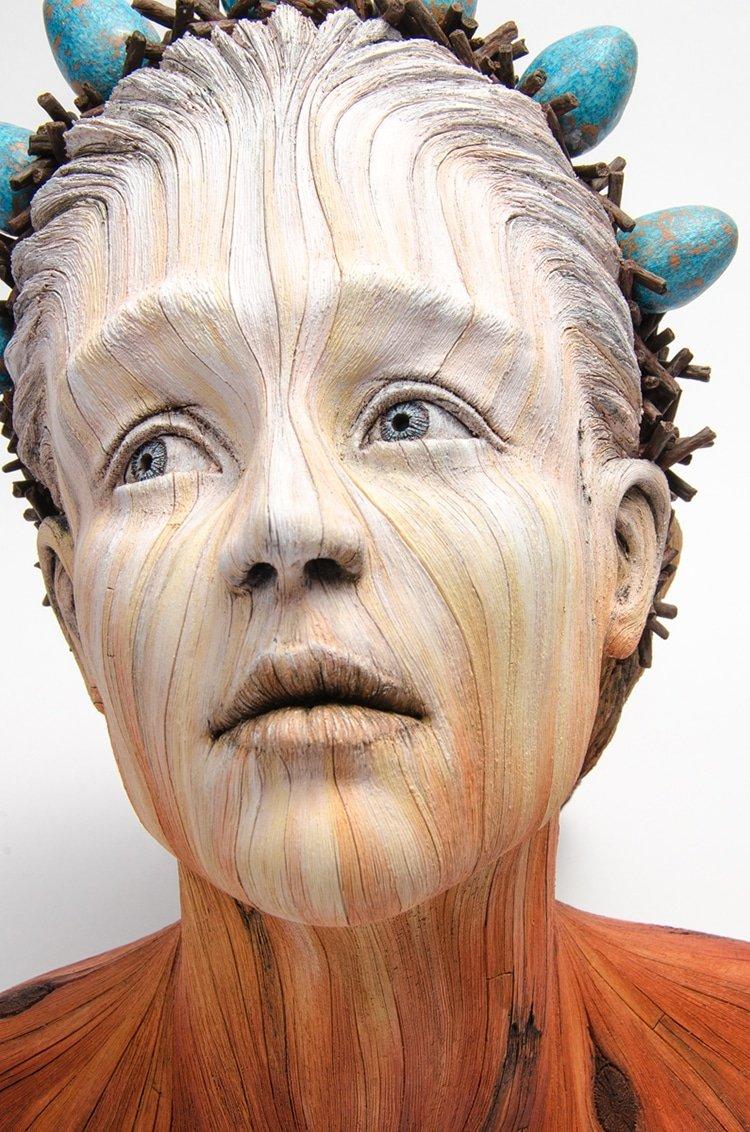 Керамические скульптуры, которые выглядят как деревянные