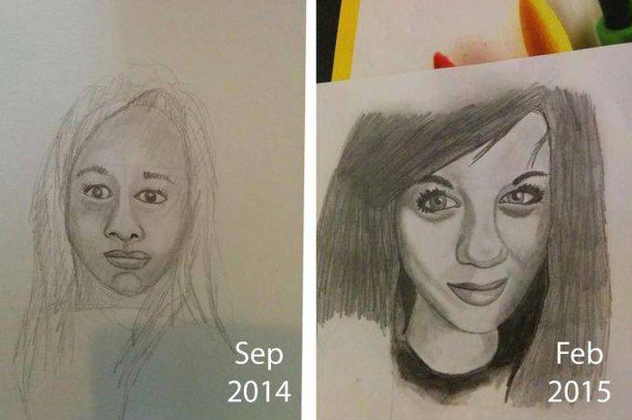 Прогресс техники художника в течение трех лет