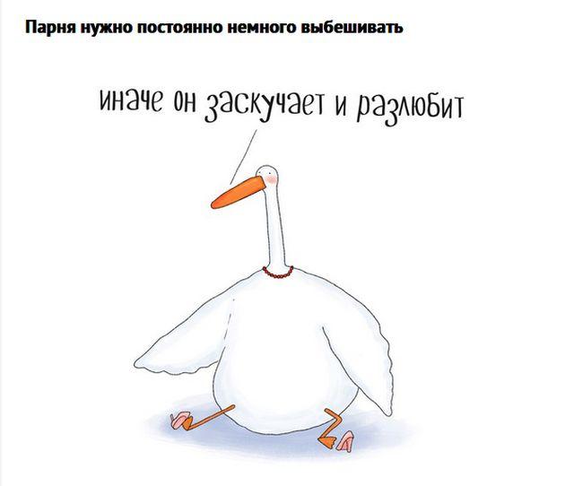 Жизненные комиксы о гусе, в котором каждый узнает себя