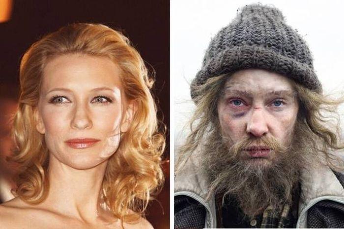 Известные актеры, которых сложно узнать в гриме
