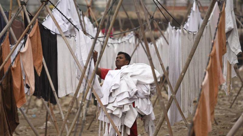 Традиционная индийская профессиональная прачечная