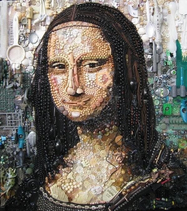 Мозаика из всего подряд от Jane Perkins
