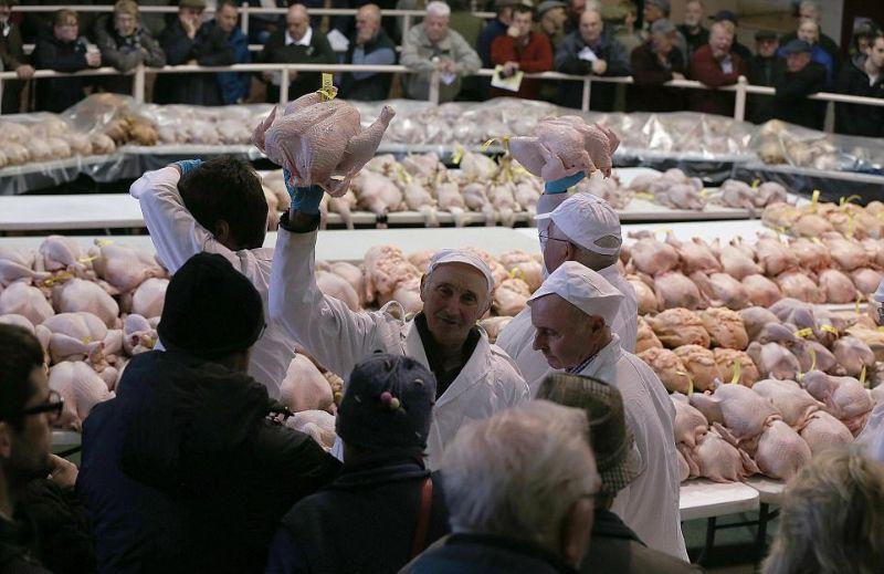 На рождественский аукцион индеек выставили 900 тушек