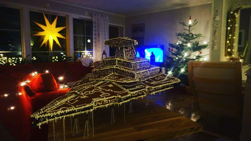 Пряничный звездный разрушитель Имперского флота