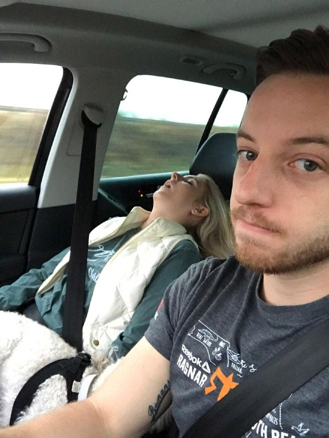 Увлекательные кадры поездок на авто с женой