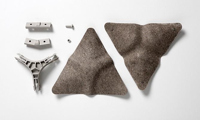 Дизайн звукопоглощающей стены от Benjamin Hubert