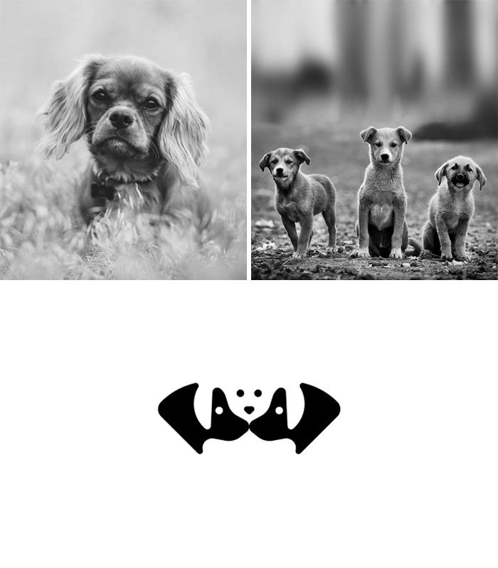 Креативные логотипы из двух элементов