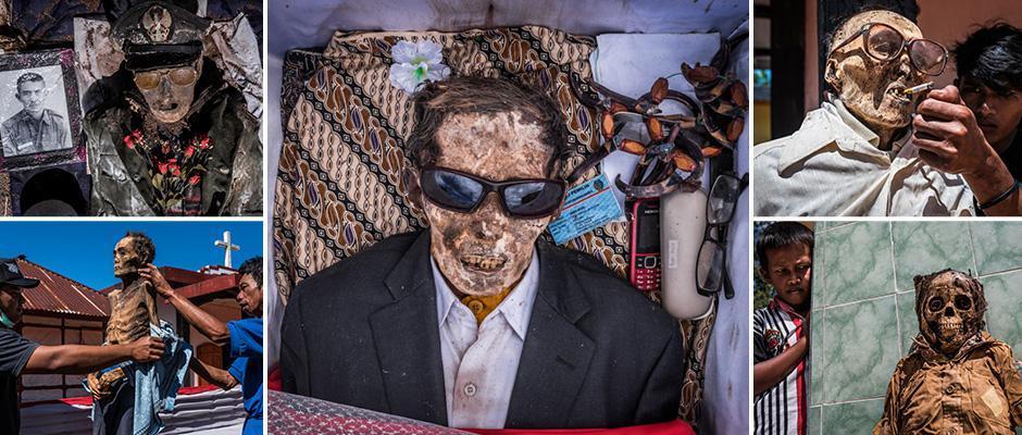 Индонезийские крестьяне раз в три года выкапывают умерших родственников