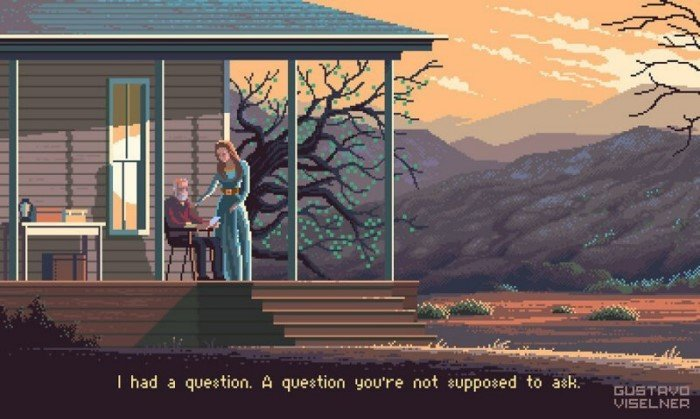 Сцены из фильмов и сериалов в пиксельной графике