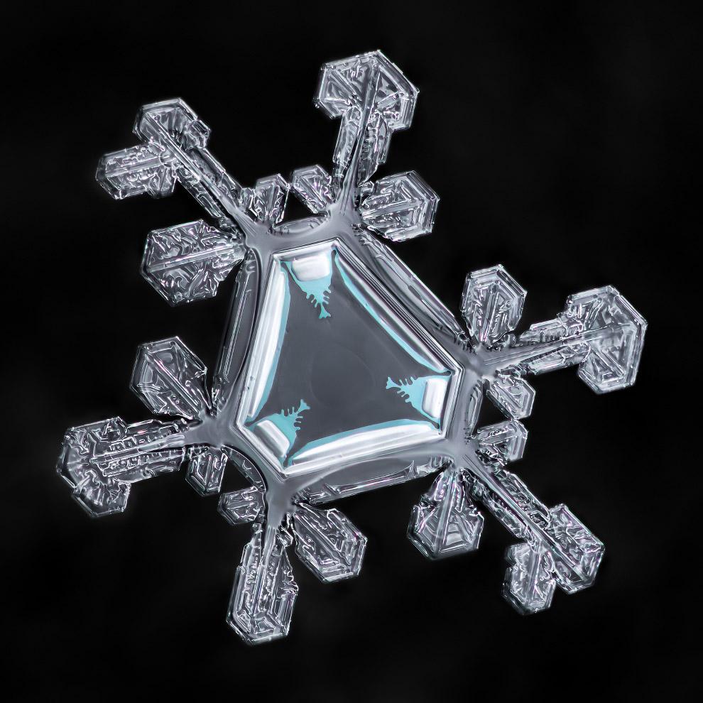 Красота снежинок на макрофотографиях