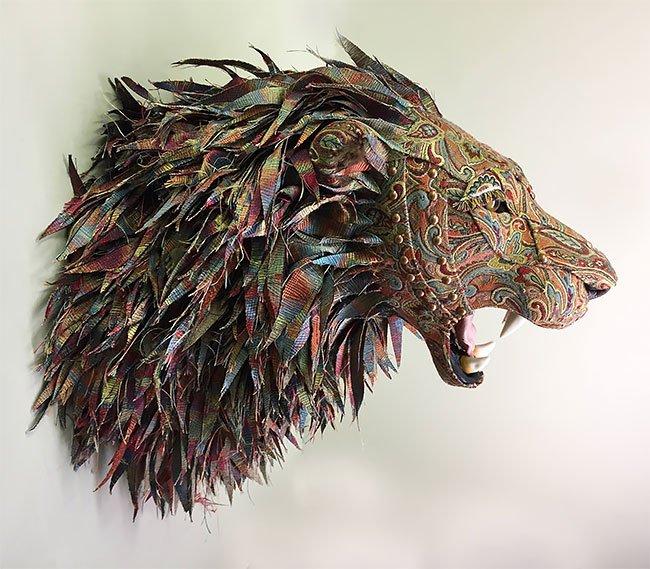 Чучела животных из ткани от Келли Елинек
