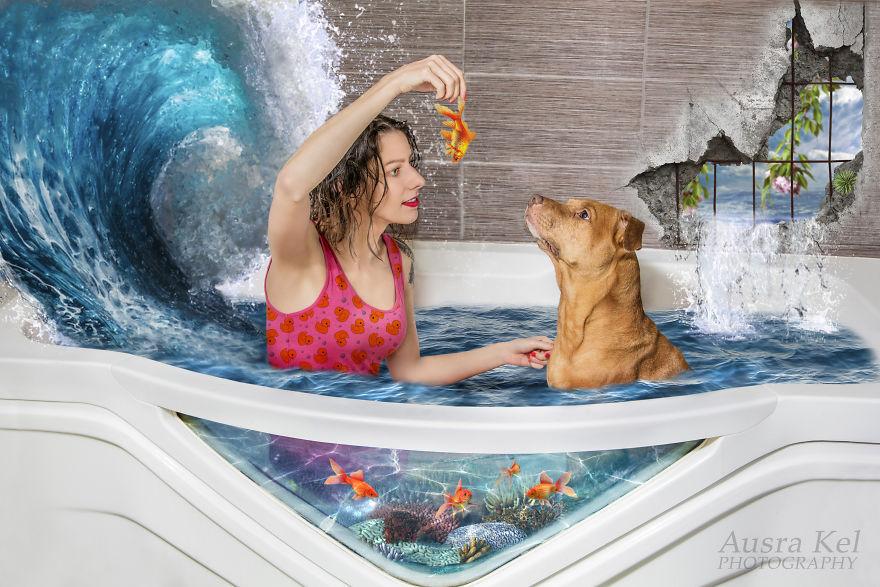 Фотограф создает целый мир для собак из приюта