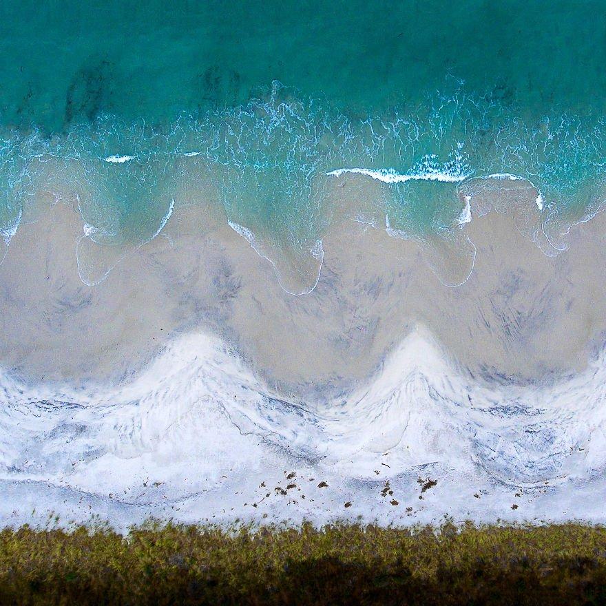 Морские пейзажи с высоты птичьего полёта