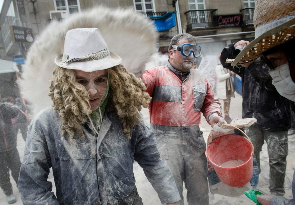 Мучной фестиваль в Испании