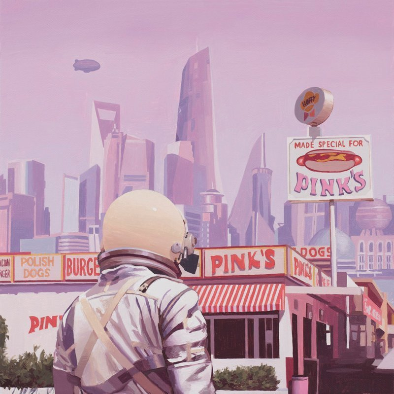 Одинокий астронавт на обломках цивилизации