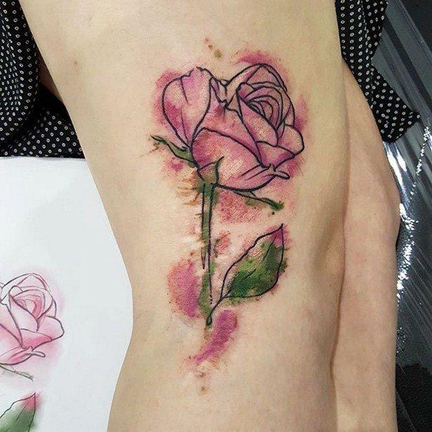 Татуировки, скрывающие родимые пятна