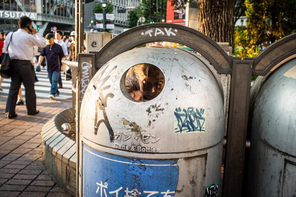 Интересные моменты на улицах Японии от Шина Ногучи