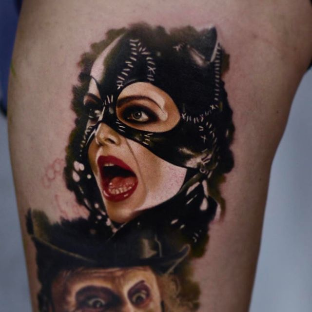 Невероятные портретные татуировки от польского художника