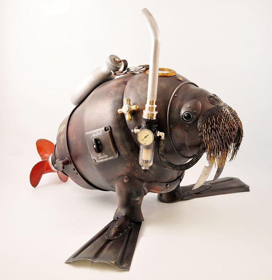 Стимпанк-скульптуры от Артураса Тамашаускаса