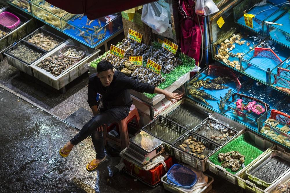 Китайский рынок морепродуктов Цукидзи