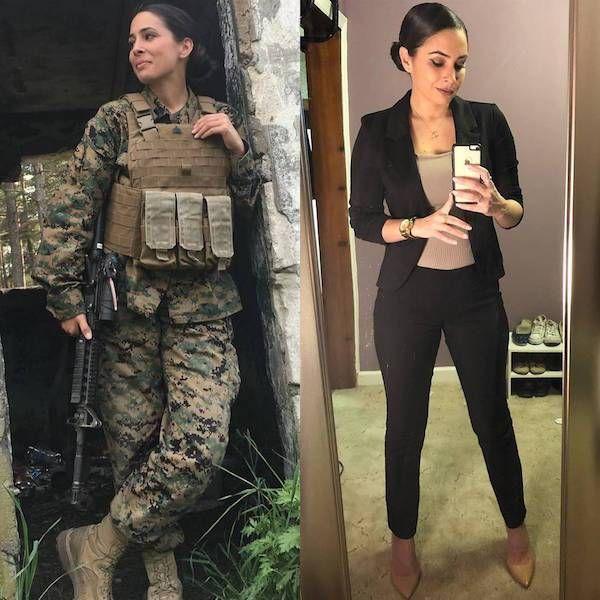 Красивые девушки в униформе и без