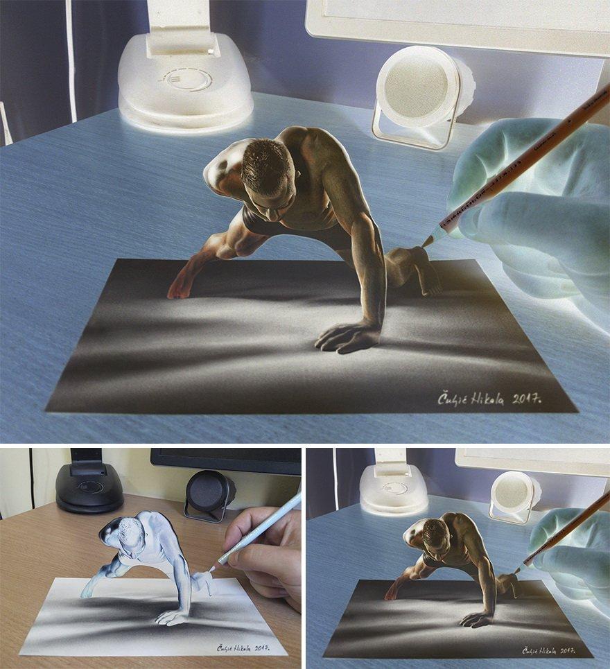 Реалистичные 3D-рисунки от Николы Чулича