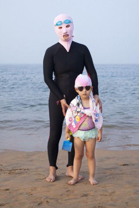 Пляжные наряды китайских аристократов