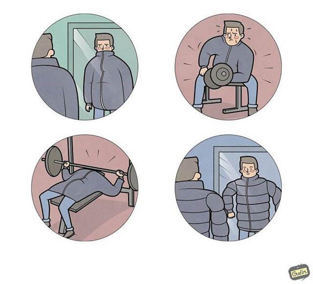 Сатирические иллюстрации от Антона Гудима