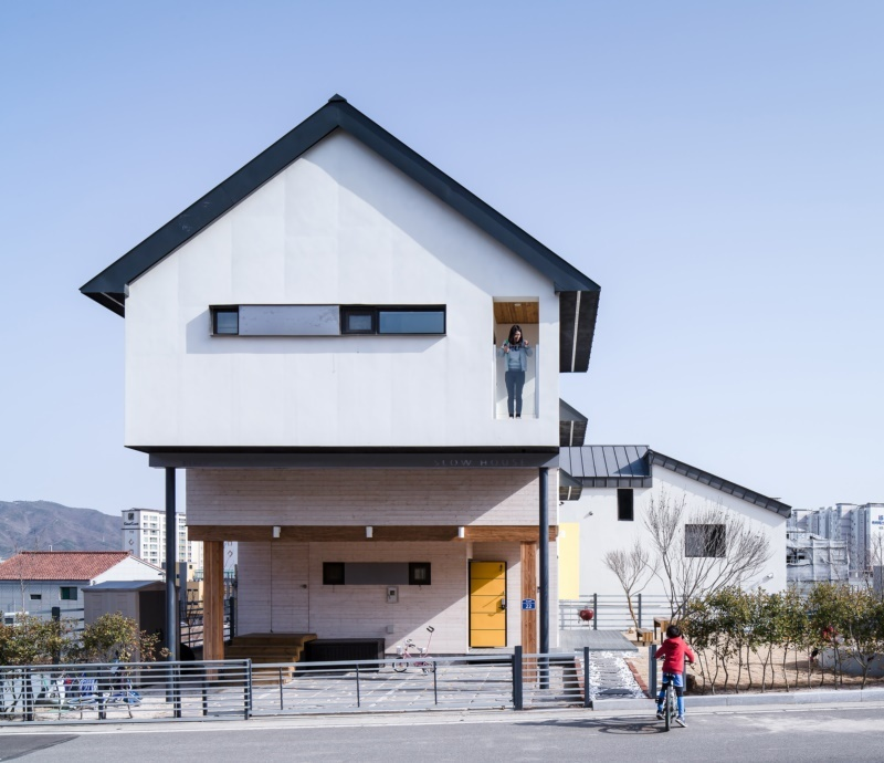 Дом ступенчатой формы в Южной Корее
