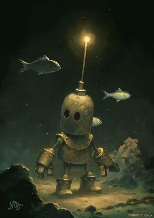 Забавные роботы от Мэтта Диксона