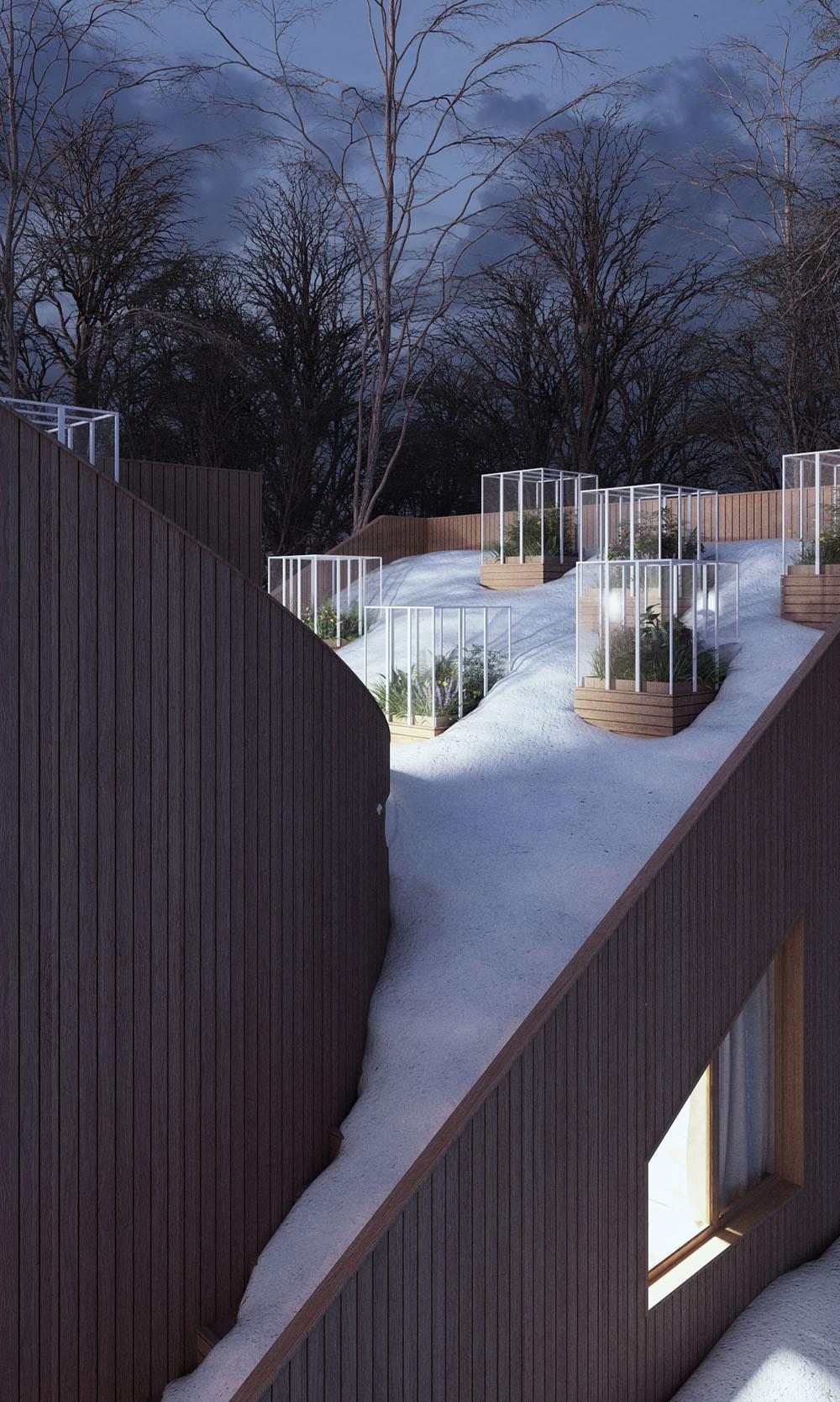 Дом с огородом на крыше в Германии