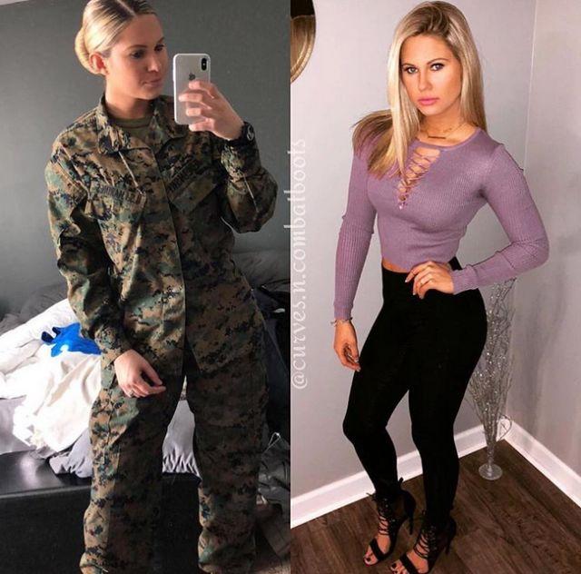 Красивые девушки форме и без нее