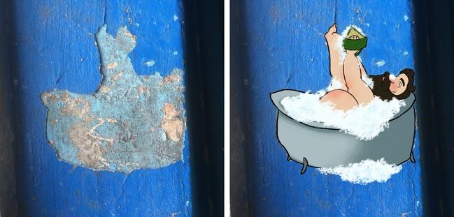 20 прекрасных картин, вдохновленных осыпавшейся штукатуркой