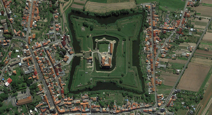 Германия из космоса на спутниковых снимках