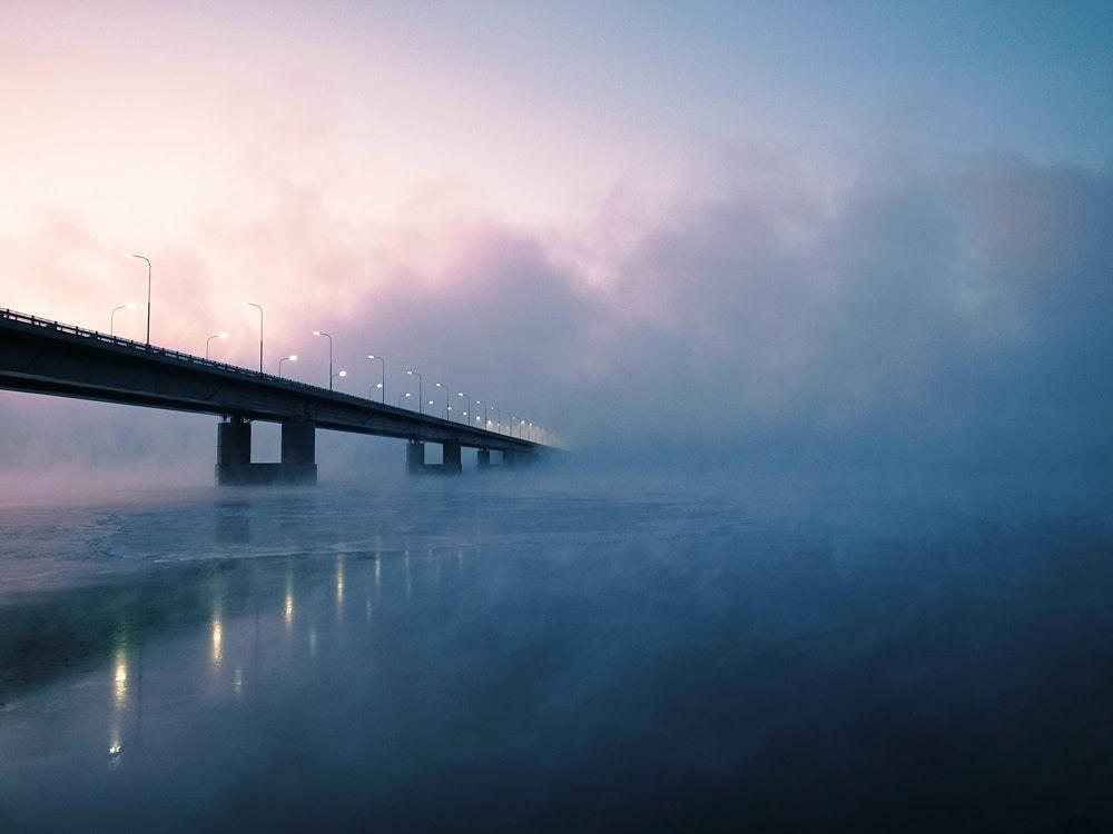 Пейзажи зимнего Мурманска на снимках Сергея Иуса