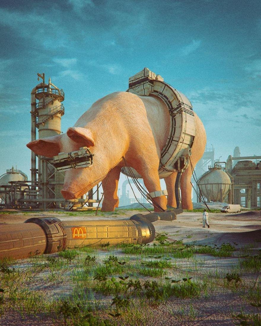 Ежедневные сюрреалистические иллюстрации Майка Винкельмана