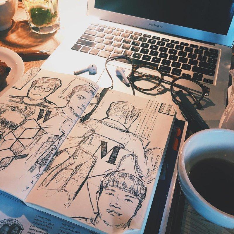 Блокнот Молескин как отдельный вид искусства