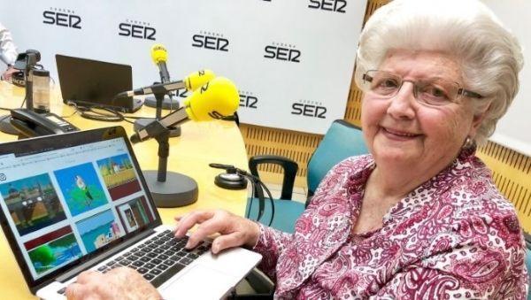 87-летняя бабушка рисует шикарные картины в Paint