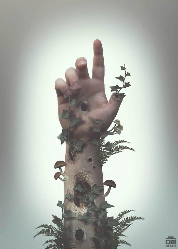 Жутковатые сюрреалистические фотоманипуляции Оливера Маринкоски