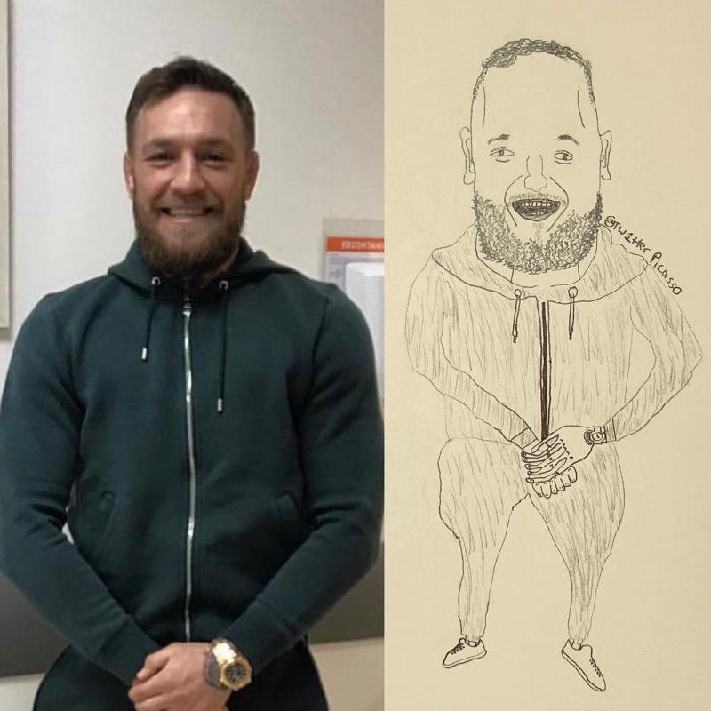 Трешевые портреты знаменитостей от художника-самоучки