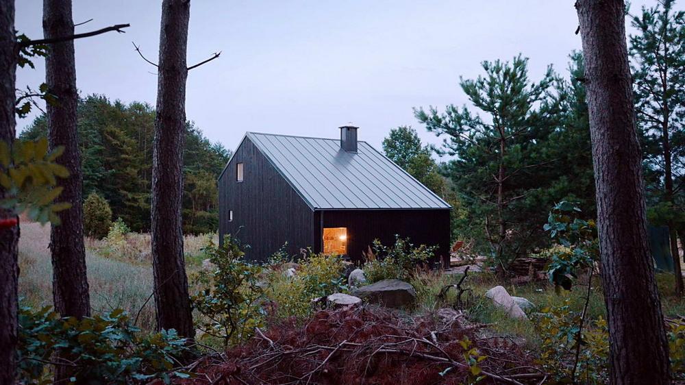Дачный дом возле леса в Польше