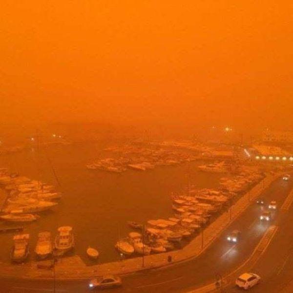 Из-за песчаной бури остров Крит стал похож на Марс