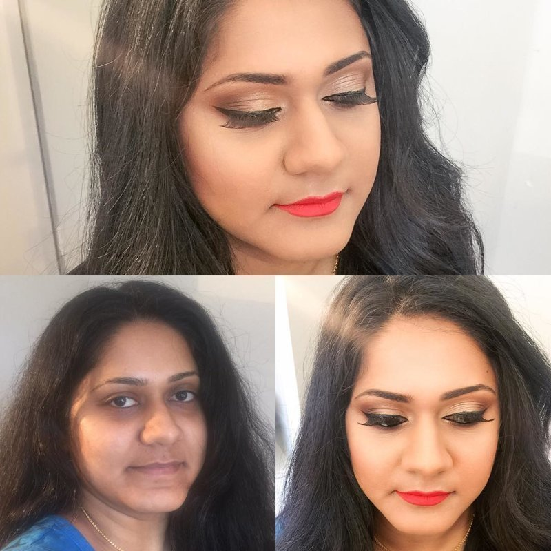 Чудеса макияжа: до и после