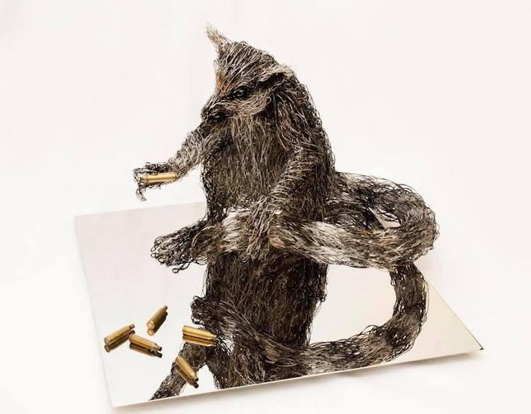 Проволочные скульптуры животных от Кэндис Биз