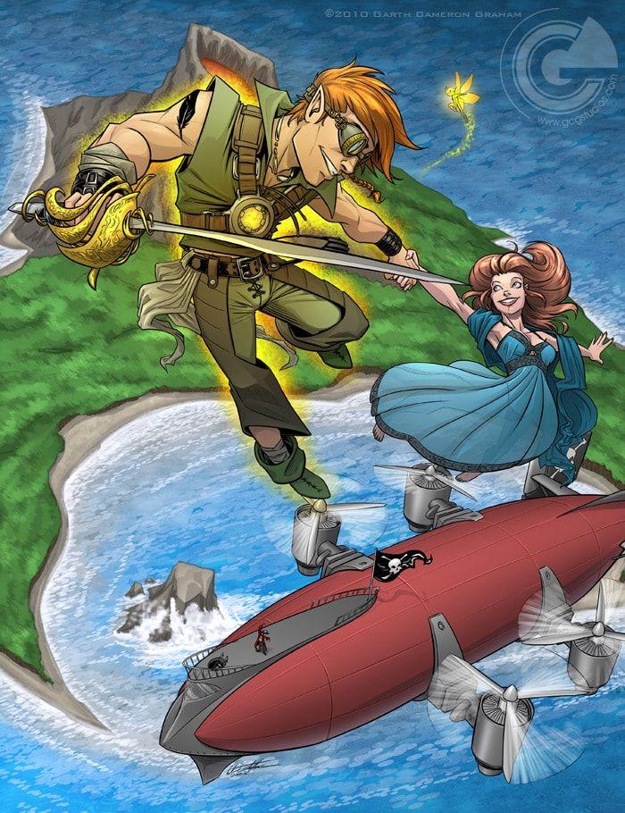 Художник превратил известные сказки в фантастические боевики