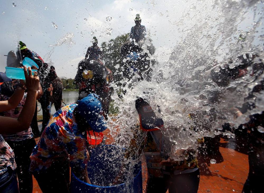 Фестиваль воды Сонгкран в Таиланде