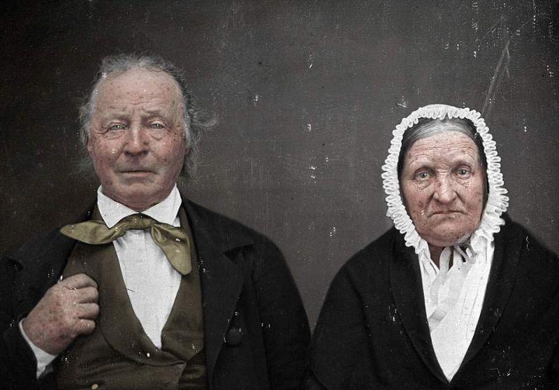 Колоризатор раскрасил портретные снимки, сделанные 175 лет назад