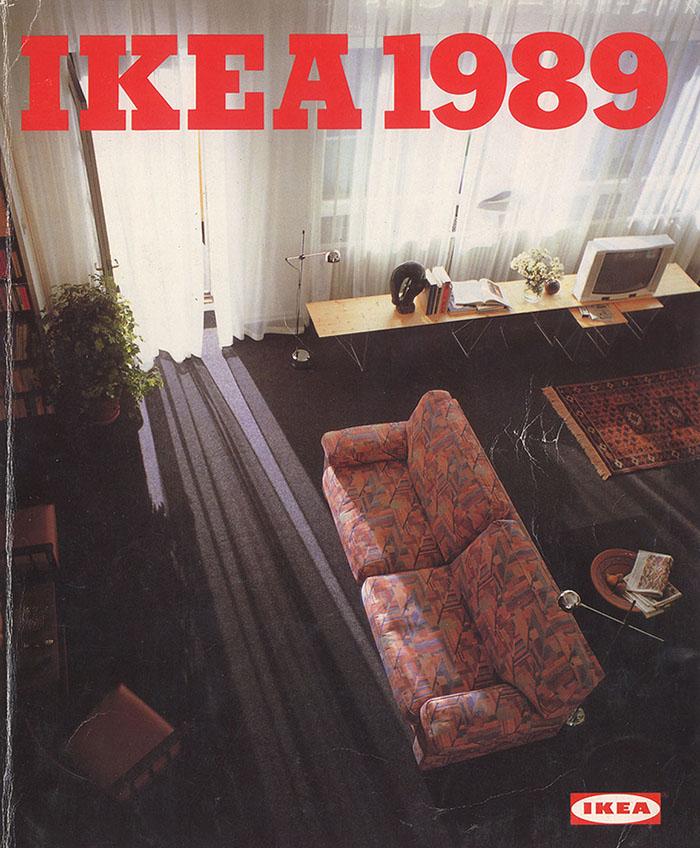 Обложки каталогов IKEA с 1951 по 2000 год